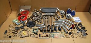 Details about 96-04 4 6 4VALVE 1000HP Mustang Twin Turbo Kit 4 6L T3  Turbocharger Ford SVT GT