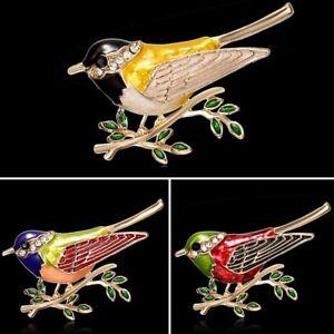 Fashion-Animal-Bird-Rhinestone-Crystal-Enamel-Brooch-Pin-Women-Costume-Jewelry