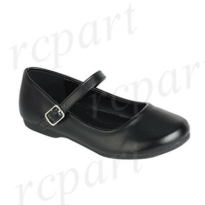 New girl/'s kids black school dress Mary Janes wedding shoes formal holiday