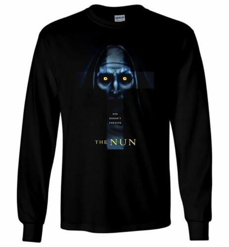 The Nun T Shirt Conjuring Universe American Horror Movie Men Long Sleeve T-Shirt