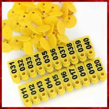 Ear Tags Number Plastic Tag Livestock Animal Marking Pigs Cattle Sheep Goldpaddy