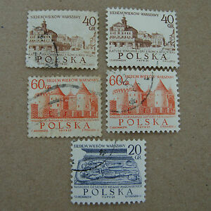 POLAND-7-CENTURIES-OF-WARSAW-X-5-FRANKED