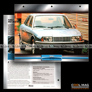 042-01-NSU-Ro-80-1967-Moteur-Rotatif-WANKEL-Fiche-Auto-Car-card