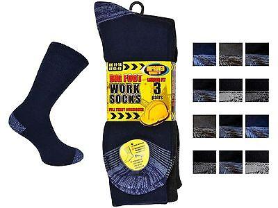 """3 Mens Erbro® Workwear """"big Foot"""" Cotton Rich Ultimate Work Socks Uk 11-14 Husten Heilen Und Auswurf Erleichtern Und Heiserkeit Lindern"""