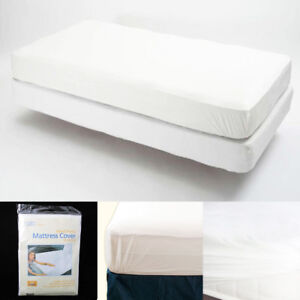King-Size-Fitted-Mattress-Cover-Vinyl-Waterproof-Bug-Allergy-Protector-Bed-New