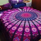 Mandala Tapestry Peacock Twin Bedding Boho Blanket Yoga Wall Hanging Beach throw