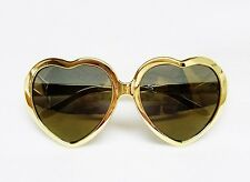 Victoria's Secret Pink GOLD TONE HEART SHAPE Lens Sunglasses Frame Glasses LAST