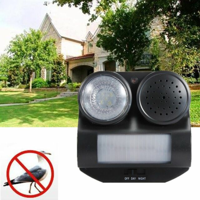 Bird Repeller PIR Motion Activated Sensor Repellent Deterrent Pigeon Scarer Crow