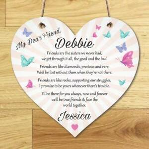 Image Is Loading Personalised Best Friend Sign Friendship Plaque Thank You