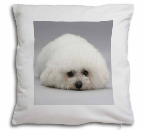 AD-BF1-CPW Bichon Frise Dog Soft Velvet Feel Cushion Cover With Inner Pillow