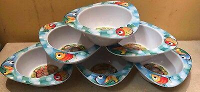 1-15 MELAMINE KIDS FOOD BOWL DISH CHILDRENS FISH FEEDING TODDLER TURTLE DINNER