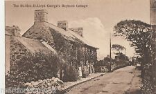 The Right Hon. David Lloyd George's Boyhood Cottage Postcard, B535