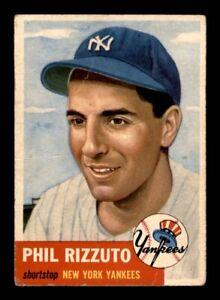 1953-Topps-Set-Break-114-Phil-Rizzuto-VG-Crease-OBGcards