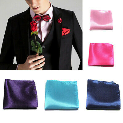Mens Pre-Folded Wedding Party Pocket Square Handkerchiefs Chestpiece Multi-Color