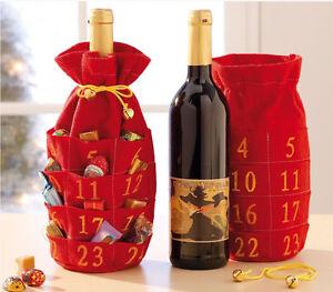 Flaschen Adventskalende<wbr/>r Kalender zum Selbstfüllen Weihnachten Advent