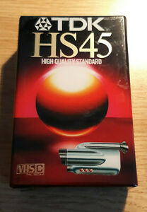 TDK-HS45-Video-Camcorder-Cassette-Tape-New-and-Sealed-VHS-C-Pal-Secam