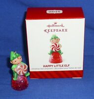 Hallmark Miniature Ornament Happy Little Elf 2014 Pixie Peppermint Gumdrop 2