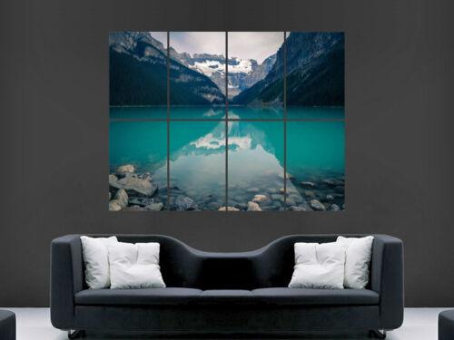 LAKE LOUISE CANADA BEAUTIFUL  ART LARGE ART HUGE  GIANT POSTER PRINT !!