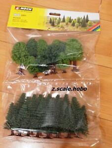 Noch 32811 N/Z Mixed Deciduous & Fir Trees 25-pack *NEW $0 SHIP *USA