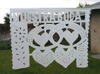 Mexican Wedding Plastic Papel Picado Size Large. Papel Picado Boda Echo A Mano