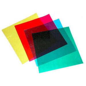 "Photography Studio Flash Speedlite Lighting 12"" 4 Colors Correction Gels Filter"
