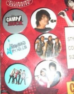 6-Camp-Rock-Collector-Pins-Disney-Exclusive-from-the-Disney-Store-Buttons