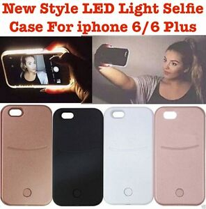 detailed look 97e73 535a7 Details about LATEST LME STYLE LED Light Up Selfie Phone Case for Apple  iPhone 5s 6 6s 6 Plus