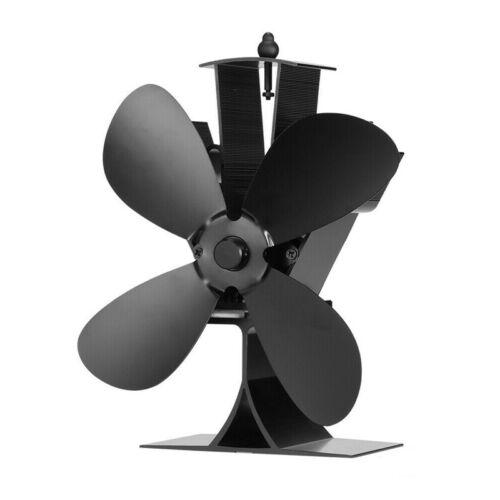DE Stromloser Kaminofen Doppelt Ventilator Ofenventilator Fan Gebläse Stove Fan