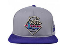 Pink Dolphin Waves Strap Back Gray w/ Purple brim Adjustable Baseball Cap