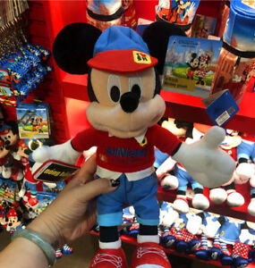 NWT-Shanghai-Disney-exclusive-Mickey-mouse-Plush-Toy-I-love-shanghai