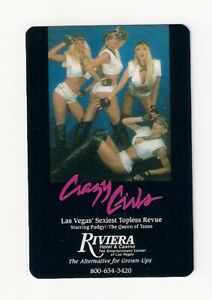 """deck playing cards Riviera Casino & Hotel, """"Crazy Girls"""" Pudgy-Queen of Tease"""