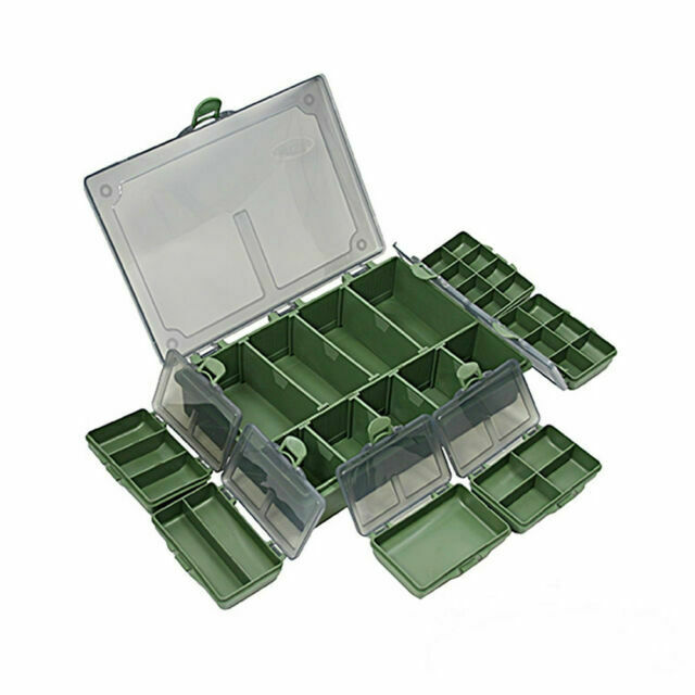 NGT Carp Fishing Tackle Box 4+1 Bit Boxes Terminal Box with NGT Soft Case