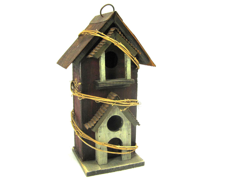 Vogelhaus braun und grün aus Holz, wunderschön,Artikelnummer gavo00002 | Moderne Technologie  | Treten Sie ein in die Welt der Spielzeuge und finden Sie eine Quelle des Glücks  | Sonderkauf