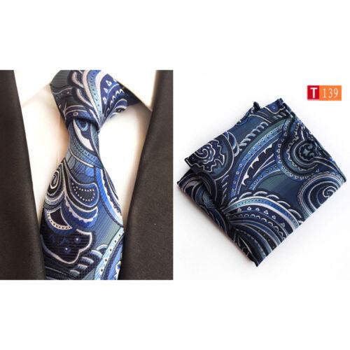 Herren Grelle Farbe Paisley Krawatte Krawatte Taschentuch Einstecktuch Set