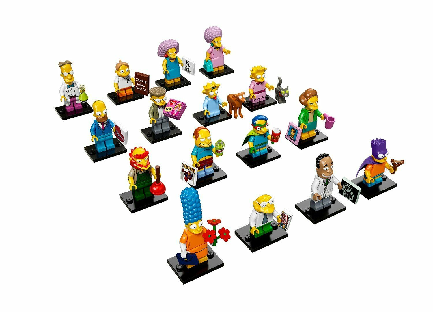 LEGO Simpsons Series 2 Minifigures - Complete Set of 16 - NEW - FREE DELIVERY