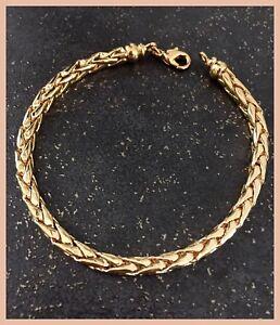 Bracelet-Maille-Palmier-Plaque-Or-18-carats-20-cm-x-4mm-Bijoux-Femme