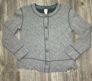 J-Jill-Womens-S-Gray-Wool-Blend-Button-Front-Long-Sleeve-Cardigan-Sweater