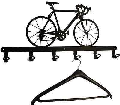Wandgarderobe Rennrad - Flurgarderobe Fahrrad, Garderobe 57cm Hakenleiste Metall