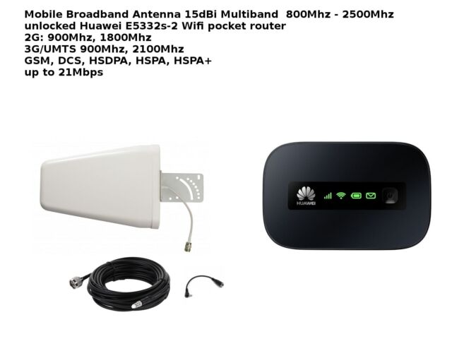 Mobile Broadband Antenna Aerial Signal Booster 3G 2G Huawei E5332 UMTS HSPA+ 10M