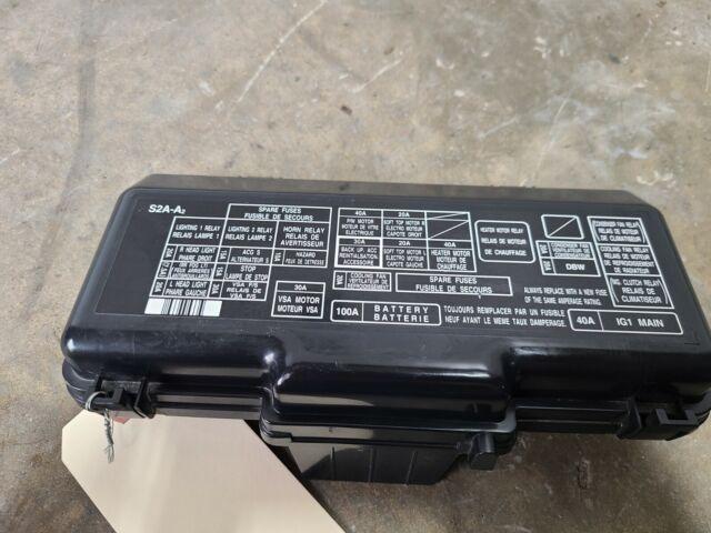 2006 Honda S2000 Ap2 25k Miles  Fuse Box Diagram Lid Cover