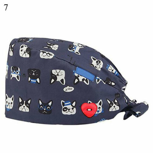Unisex Surgical Cap Doctor Nurse Baotou Caps Bouffant Sanitary Pure Cotton Hat