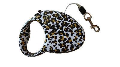 Systematisch Retractable Leash, Zebra Or Leopard Pattern Geweldige Prijs