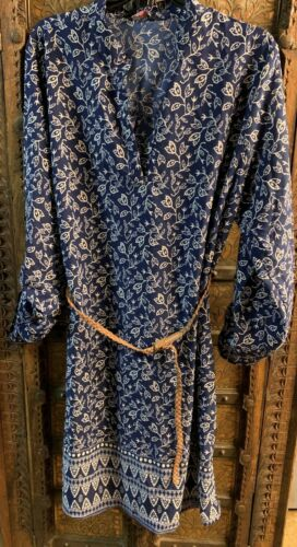 DRESS WITH BELT ROLLTAB SLEEVES TUNIC LONG TOP PLUS SIZE CURVY WOMEN Sale