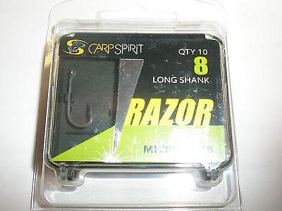 Carp Spirit Ace Razor Point sz7 Longshank Barbed Hooks 10pk Carp Fishing tackle