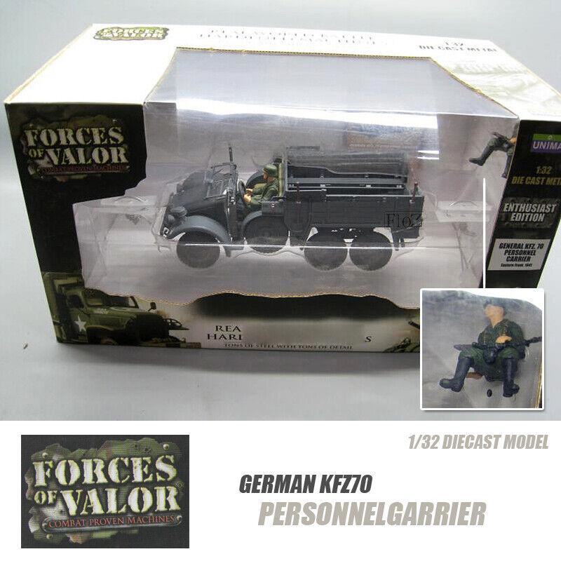 GERMAN KFZ70 personnelgarrier 1/32 Modello Diecast finito SERBATOIO FOV
