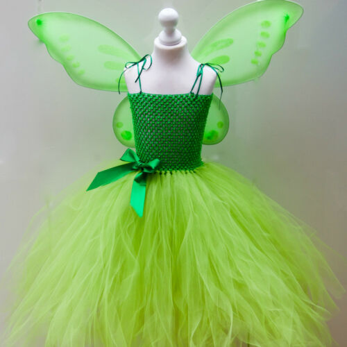 Tinkerbell Fairy Inspired Costume Fairy Wings Age/'s 3 up to 12