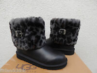 Ugg Ellee Animal Leopard Sheepskin Cuff Boots, Youth Sz 4. Fits Womens 6/ 37nib