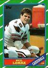 1986 Topps Neil Lomax #327 Football Card
