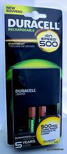 Duracell Advanced Ion Speed 500 Charger w/ 2 AA Batteries NEW