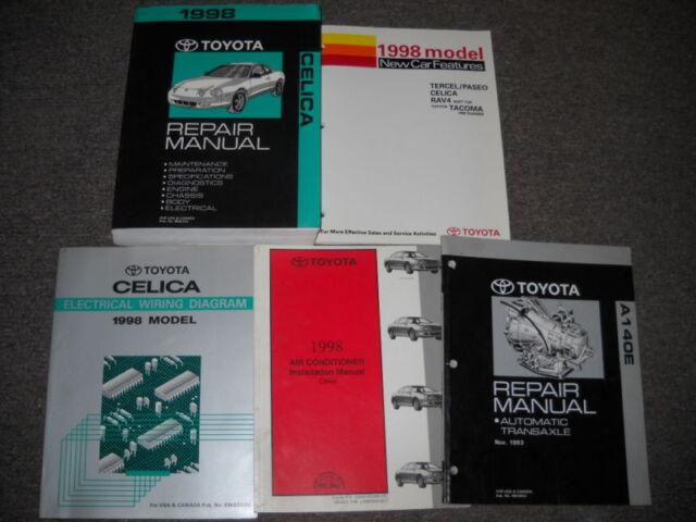 1998 Toyota Celica Service Repair Shop Manual Set Oem W